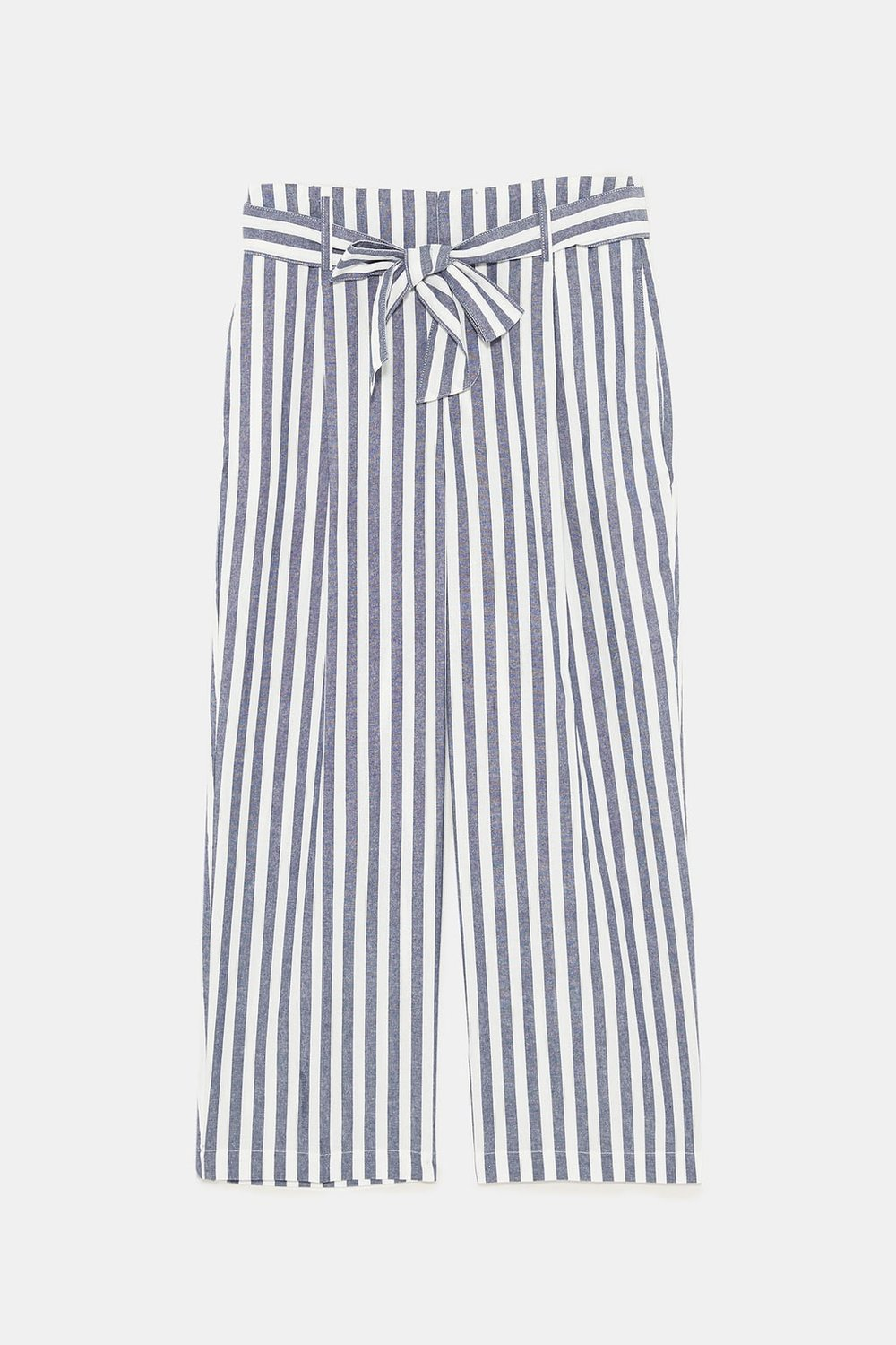 - High waist pants with self belt. Front pleats. Side pockets and false back welt pocket. Front zipper and metal hook closure. $39
