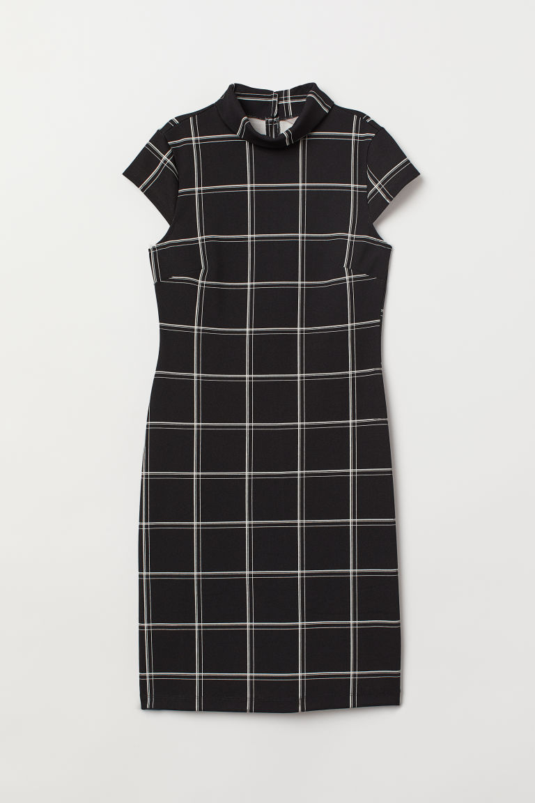 - Plaid Creped Dress $39.99