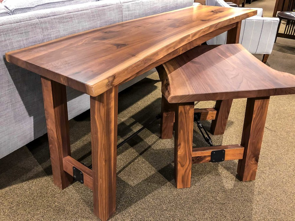 Live Edge Sofa & End Table