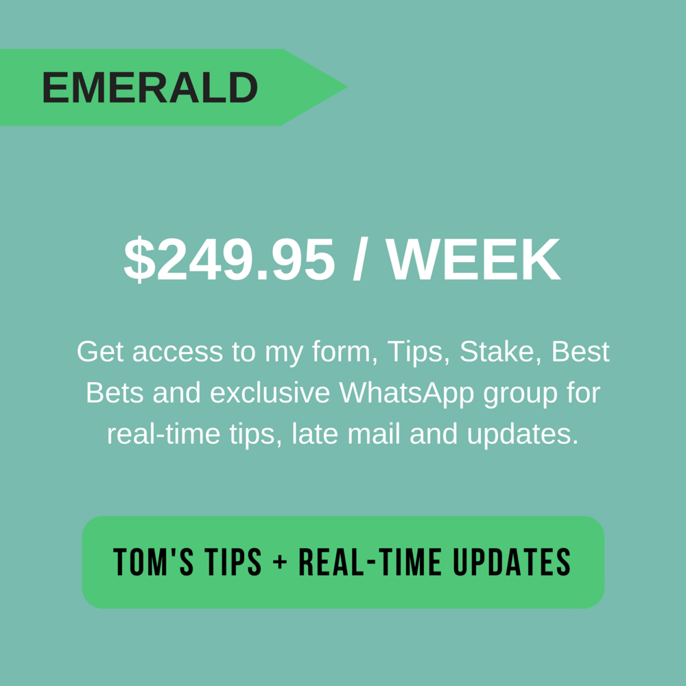 Tom Waterhouse's Emerald Tips