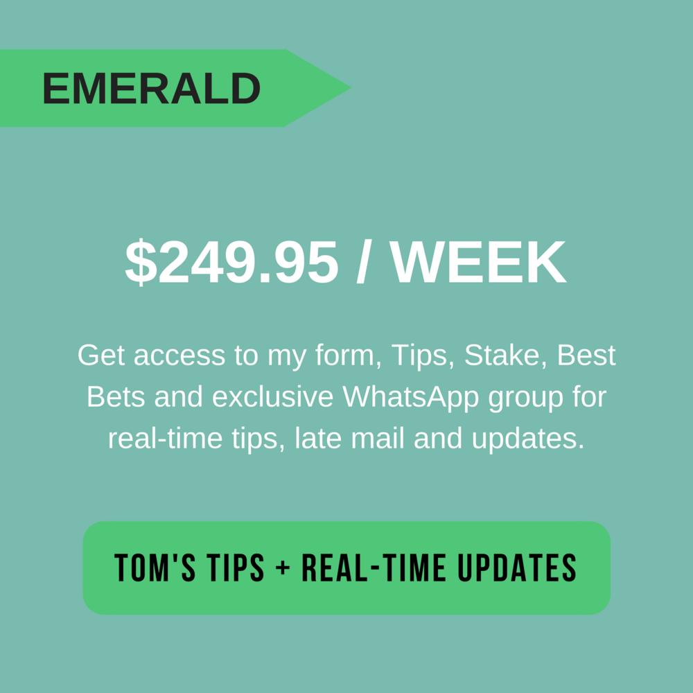 Tom Waterhouse's Emerald Tips