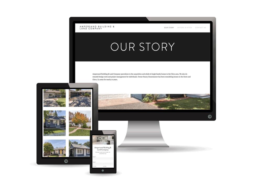 Ampersand Building & Land Company Website Design Project