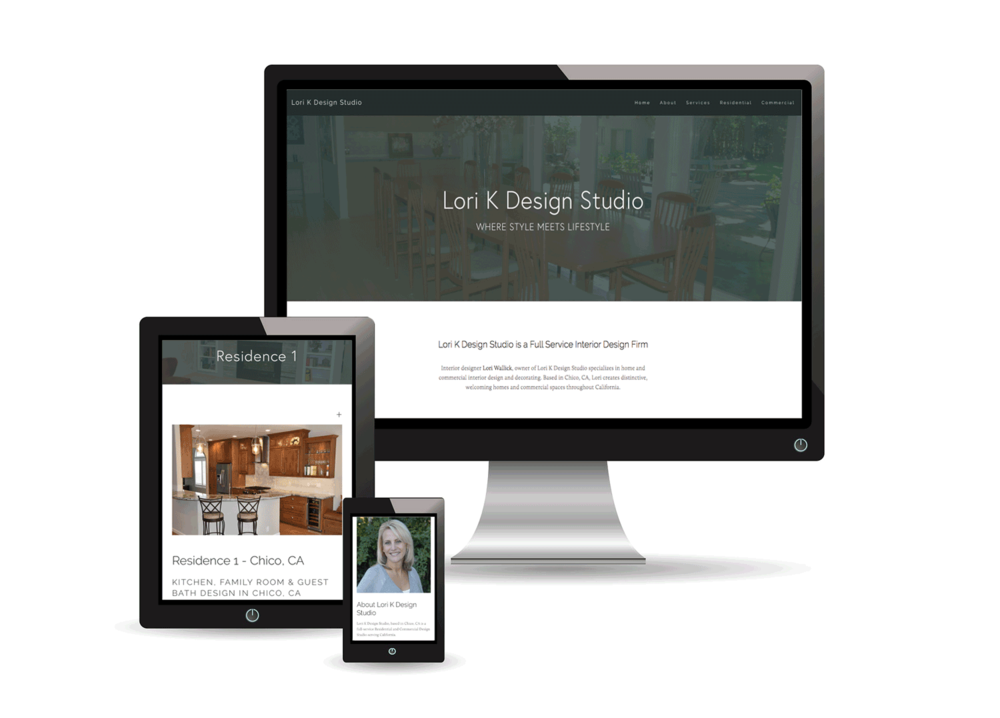 LORI K DESIGN STUDIO | Interior Design Firm Website Design - Interior design firm, Lori K Design Studio based in Chico, California, was looking for a solution to showcase their interior design portfolio and establish an online presence. They turned to Little Owl Design Studio to create a website that reflected their style. Branded social media profiles were developed on Facebook, Instagram, Twitter, Pinterest, Houzz, Google Plus, and Yelp then connected to their site. On the Squarespace platform, we provided a photo-rich design, wrote copy, and implemented on-page SEO.
