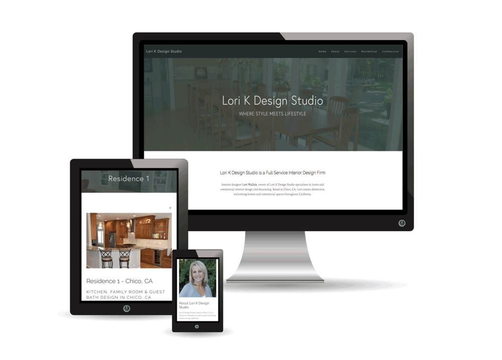 Lori K Design Studio Website Design Project
