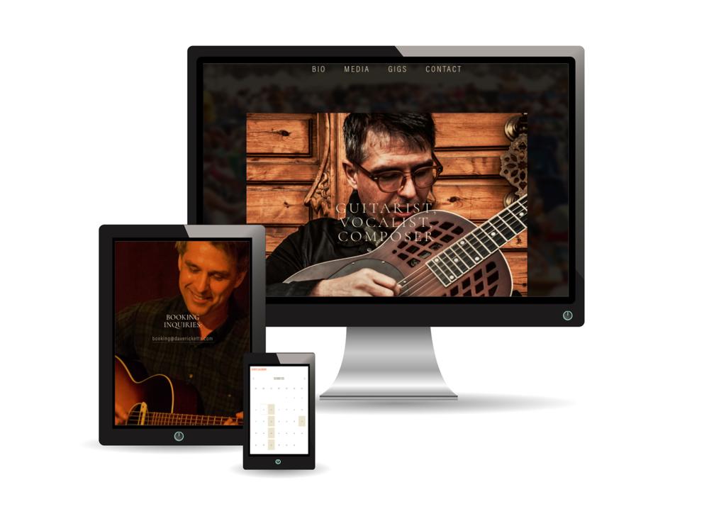 Dave Ricketts Music Website