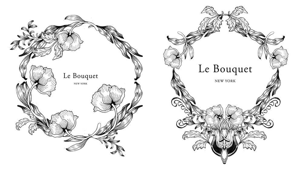 Logo Design for Florist, Le Bouquet Nyc