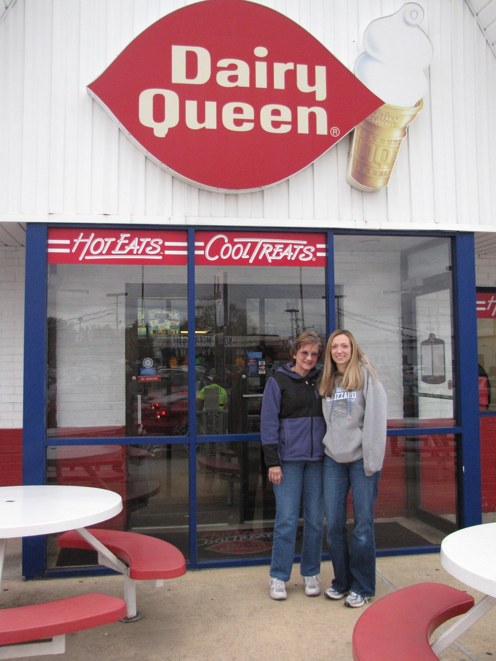 Pam and Arlene, on the last day at the first Dairy Queen on 1300 Roosevelt Ave, before we moved to our new location across Rt 30.