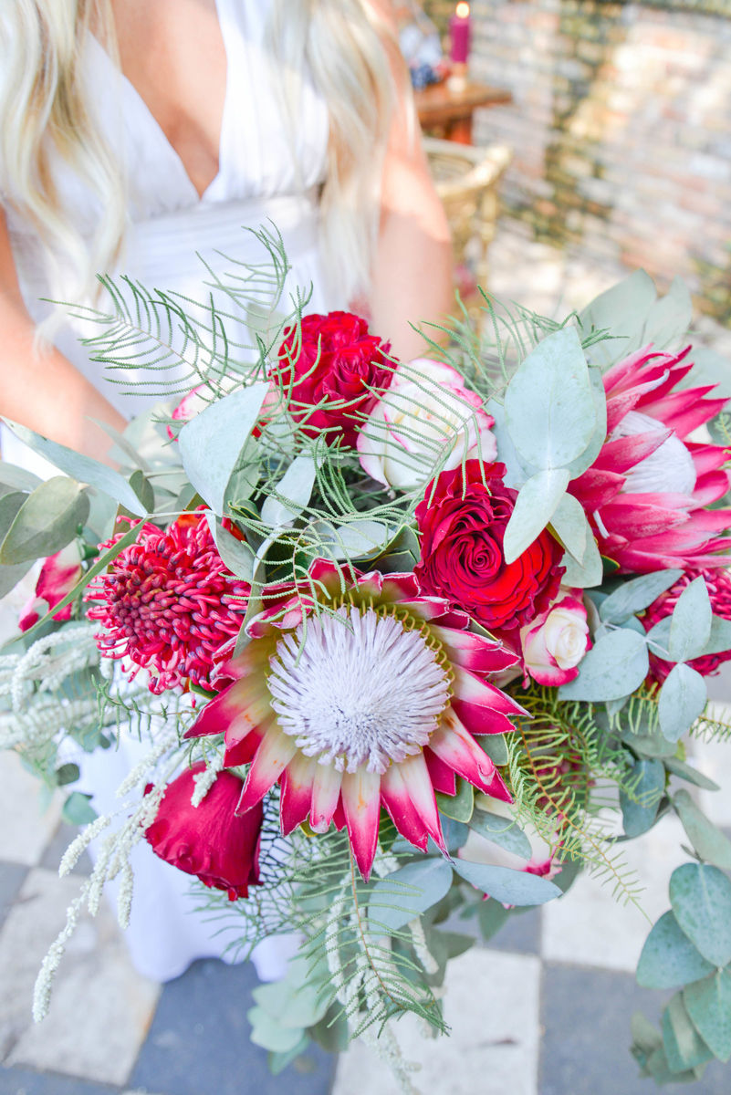 Red King Protea Bridal Bouquet.jpg