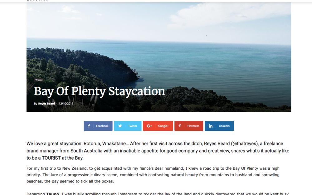 Bay of Plenty Travel Write-Up