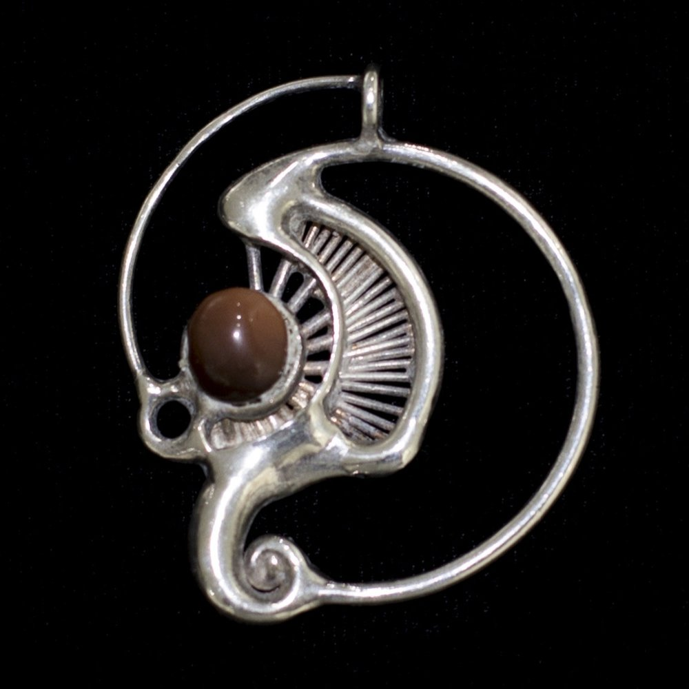 """Untitled"" by Michael Malpass, circa 1973-74. silver and gemstone jewelry. (photo: Tina Collella)"