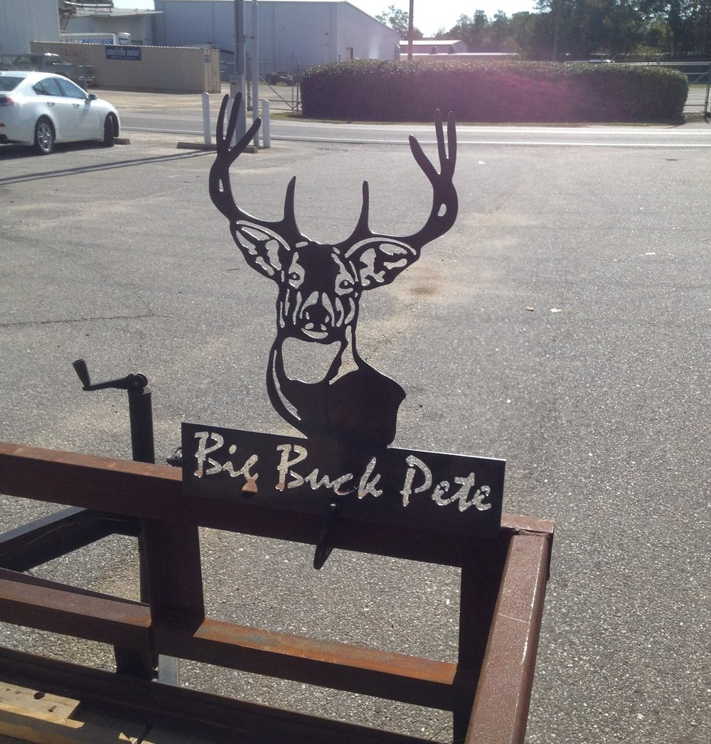 Buck Sign, Metal Cut