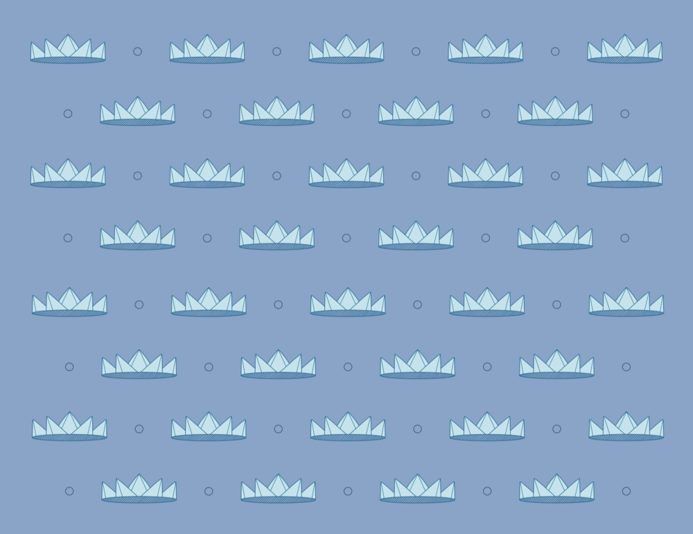 visual elements : crown pattern