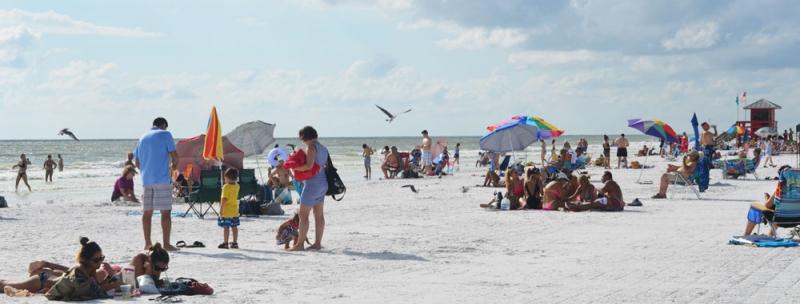 White Sand On Siesta Beach, Sarasota Florida