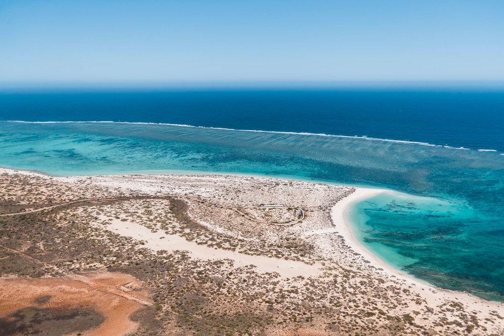 scenic flights over Ningaloo reef -