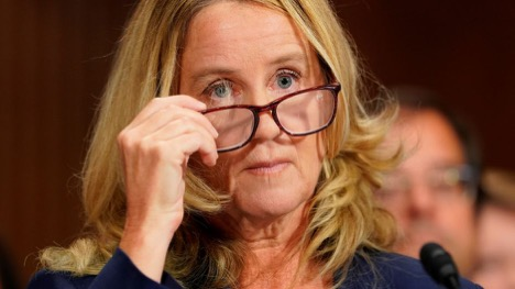 Pictured: Dr. Christine Ford at her testimony.