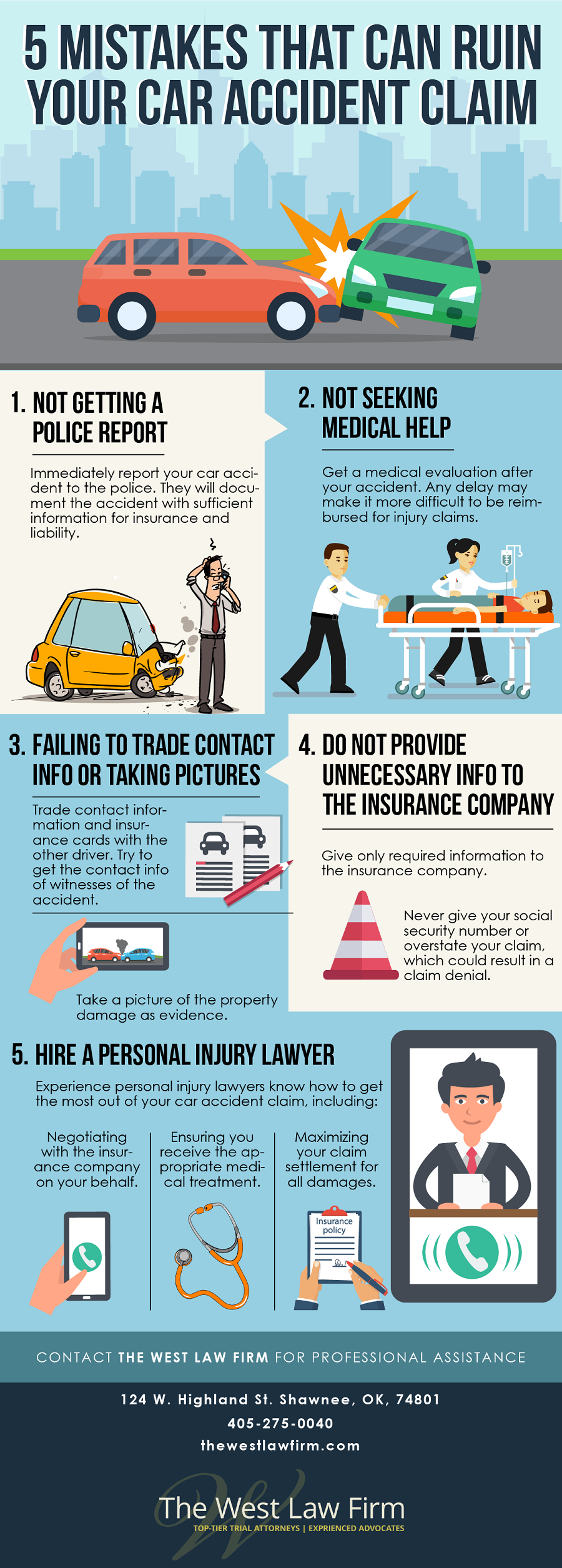 5 Mistakes That Can Ruin Your car Accident Claim
