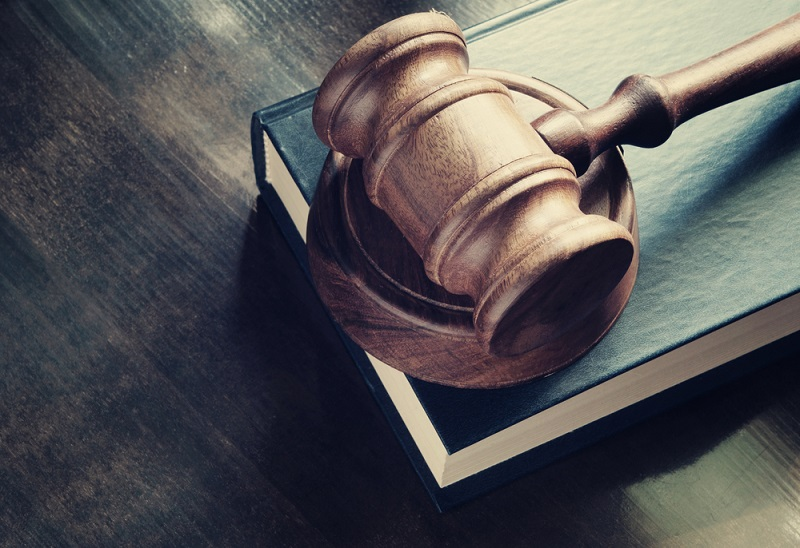 Judges gavel & legal book on the table