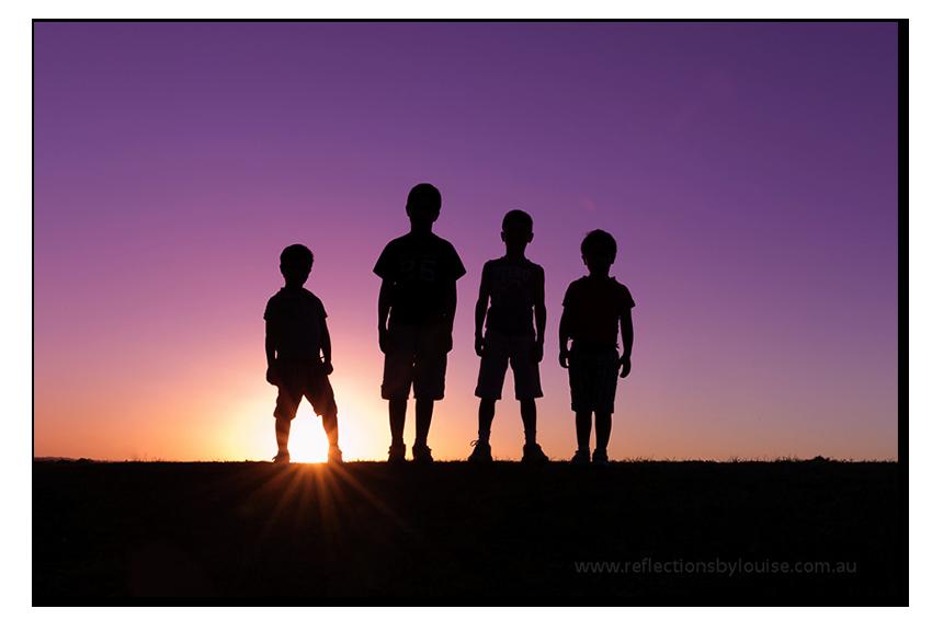 Sunet silhouette photo