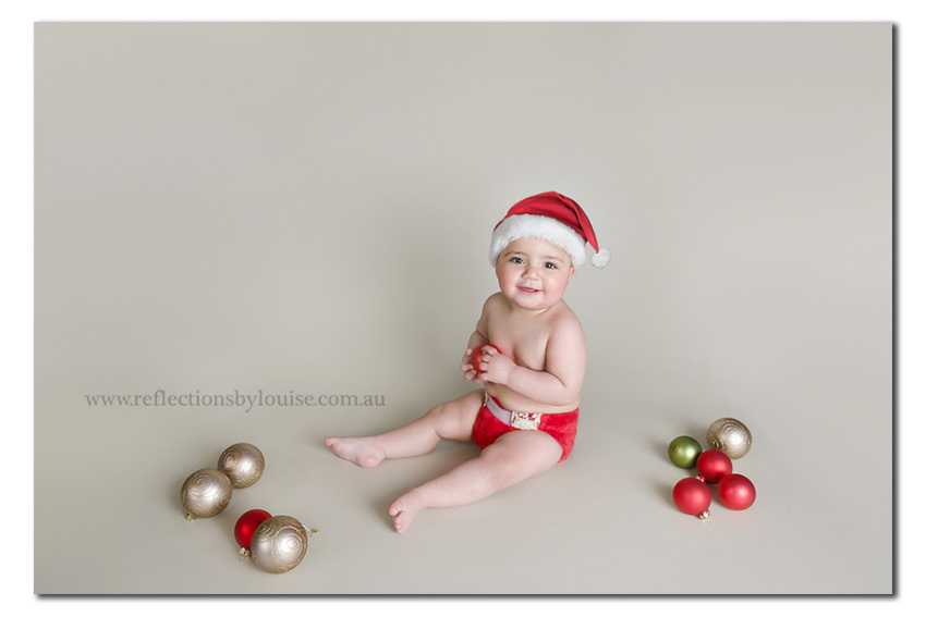 Christmas Baby, one year old baby, one year old Christmas photo,