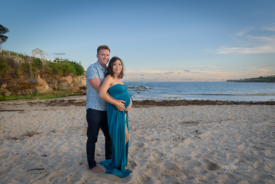 beach maternity photography, coogee beach photography, maternity dress, maternity gown, maternity photography dress, sewing maternity dress