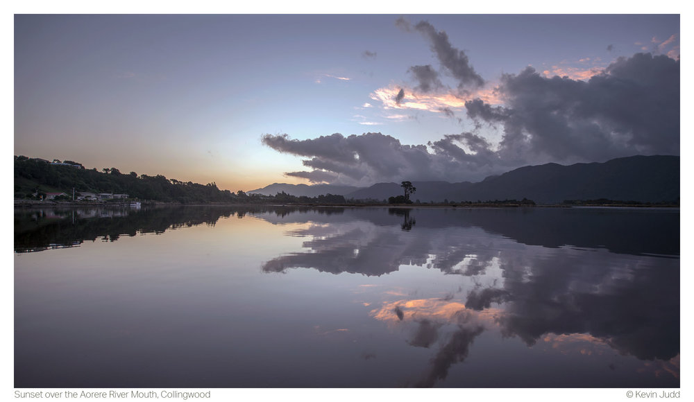 Sunset over the Aorere River Mouth, Collingwood.jpg