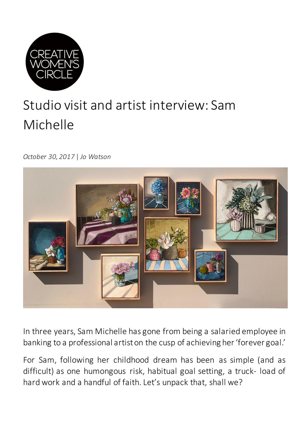 Artist Profile Sam Michelle