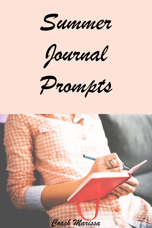 Coach marissa's summer journal prompts