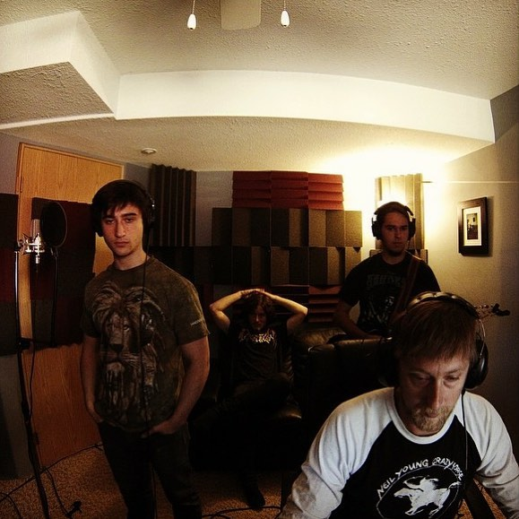 Throwback to cutting a quick demo @fbrrecording with Wes Gregg in Quesnel. #recordingstudio #music #guitar #guitarist #indierock #musicians #rockband