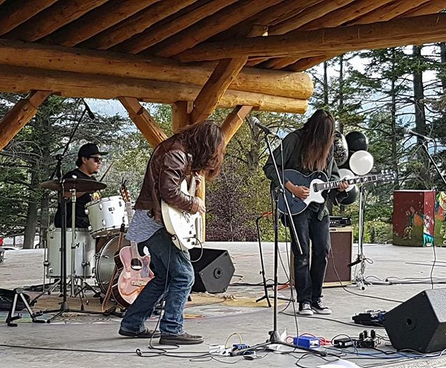 We had a blast last week at Performances in the Park in Williams Lake thanks to everybody who came! . . . . . . #rock #rockband #rocknroll #music #band #hair #longhairdontcare #livemusic #performance #williamslake #summer #park #outdoors #guitar #guitars #drums #vocals #singer #guitarist #drummer #musicians #musiciansofinstagram