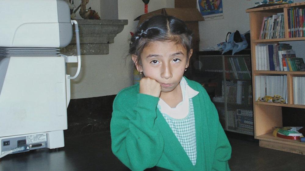 Sad girl with no glasses