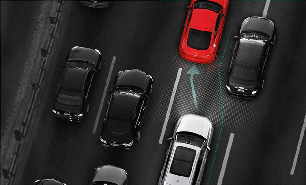 Adaptive cruise control with stop & go and Traffic jam assist