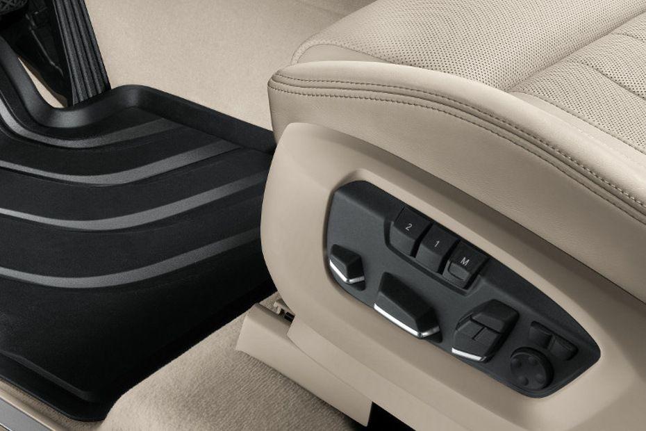 Seat adjustments control