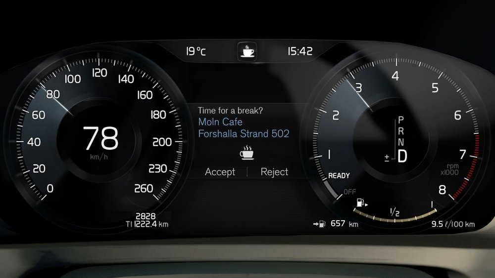12-inch driver display