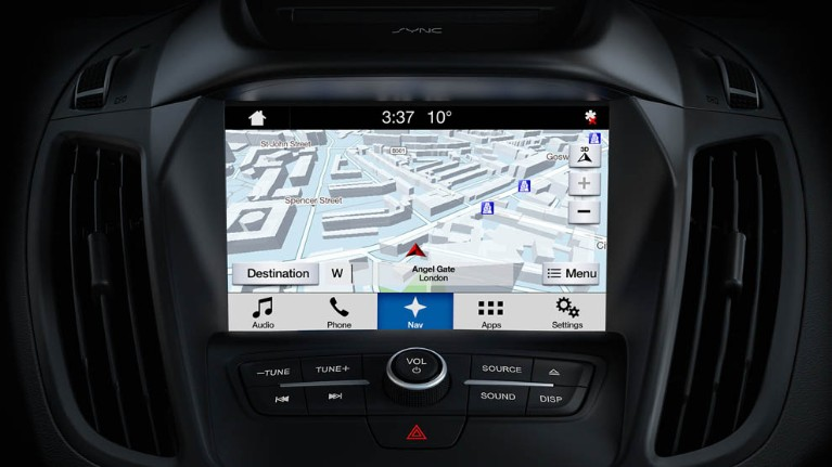 fully integrated satnav system with a 8 inch colour screen and DAB audio system