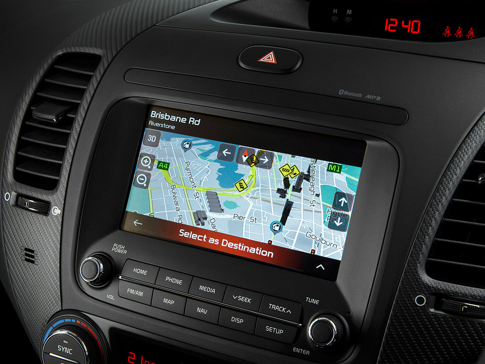 7 inch touch screen with Satellite Navigation