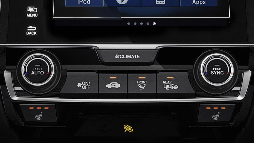 Dual-zone auto climate control