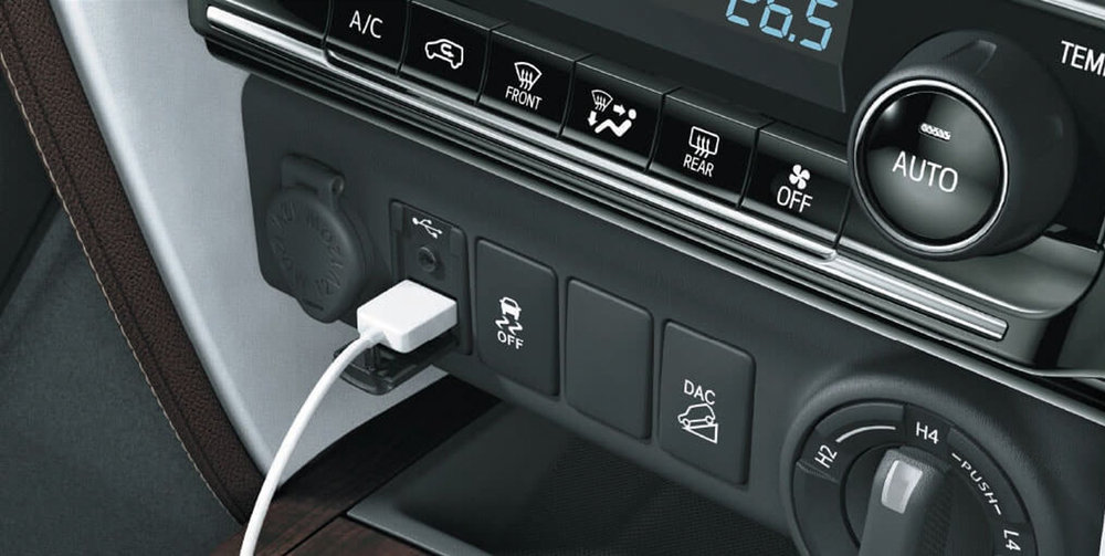 Aux-in, USB and Accessory Socket