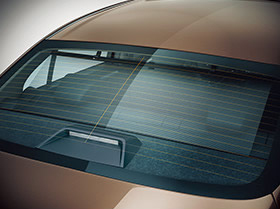 Rear sunshade