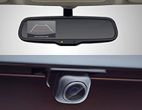 Auto dimming day and night rear view mirror with rear view monitor