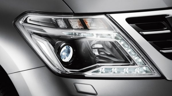 Illuminating the road ahead, day and night, are the high-tech daytime running lights and LED headlights