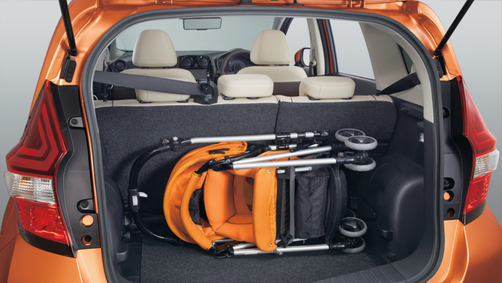 Luggage Compartment loaded with infant car