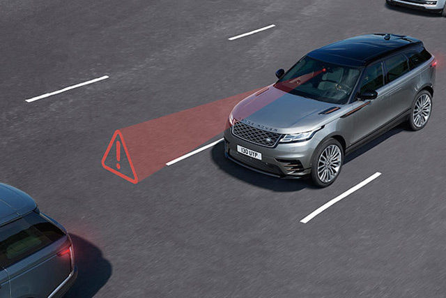 Autonomous Emergency Braking system displays a warning, giving you time to take action