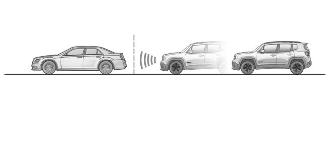 Forward Collision Warning-Plus with Mitigation system detects whether the Jeep Renegade is approaching another vehicle