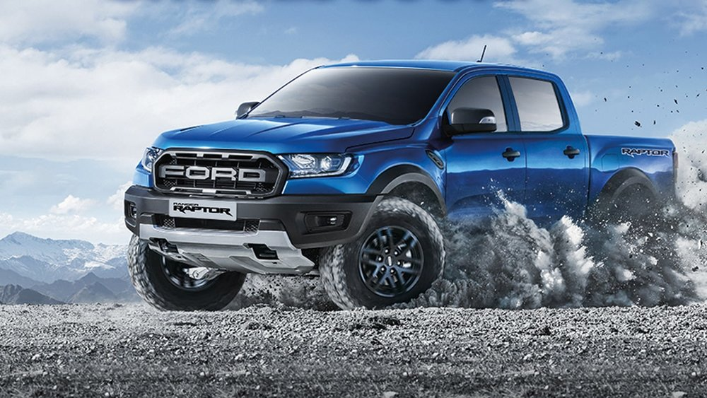 All-terrain tires that features an aggressive tread pattern for enhanced traction off road.