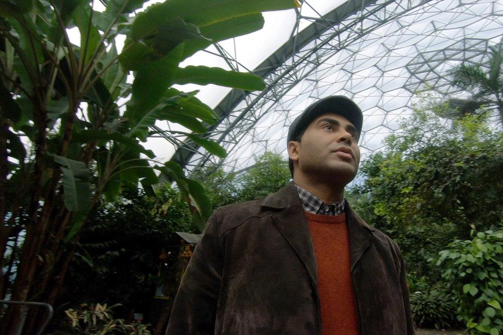 Presenter John Bosco explores The Eden Project