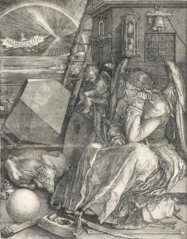 Melencholia I, Albrecht Durer, 1514 (ink, paper)