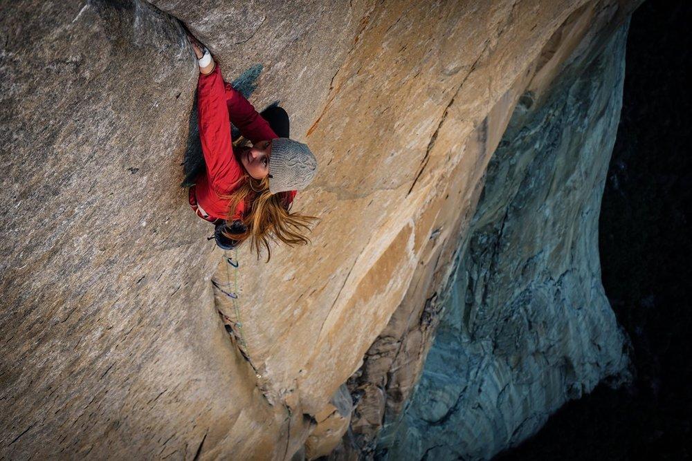 Hazel Findlay on El Cap. Photo: Jonny Baker.