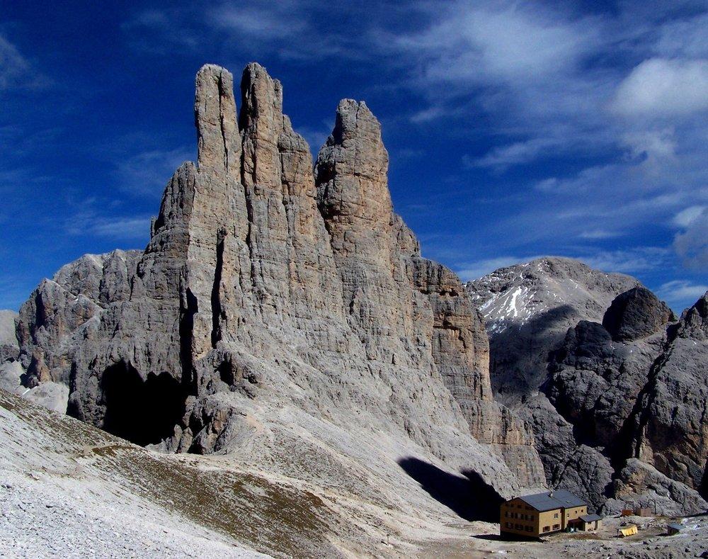 Vajolet Towers in Dolomites. Photo: Anders Lidström