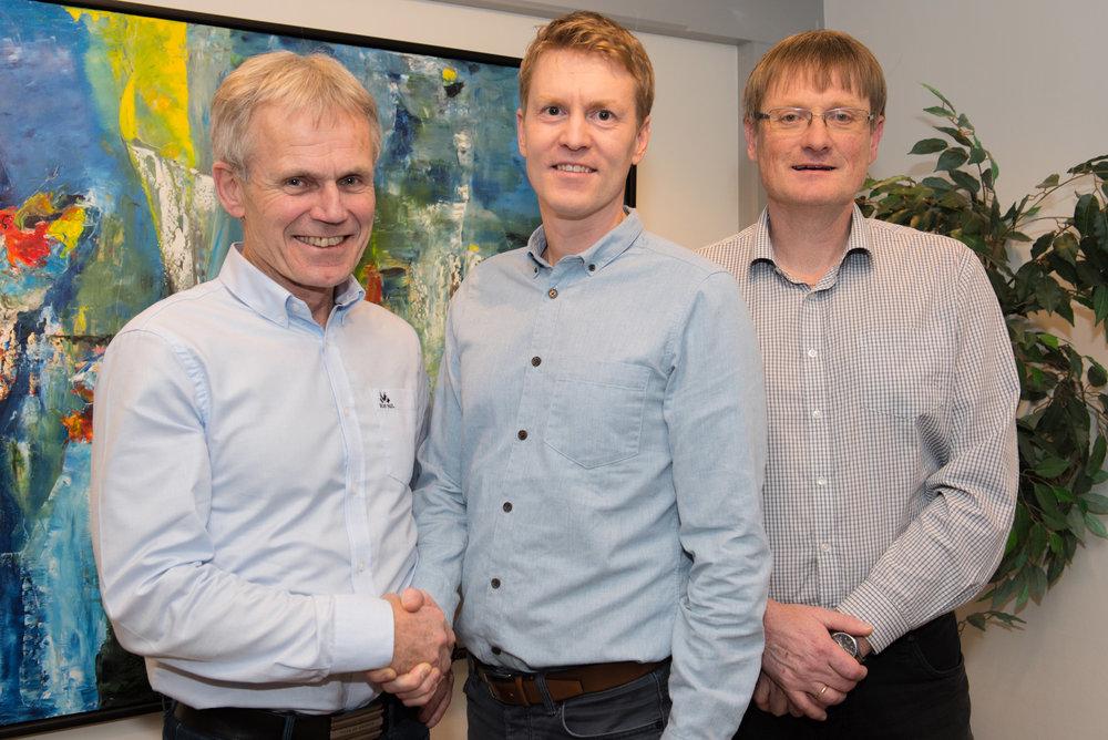 Fv: Styreleder Kjell Bjordal, Eirik Welde og Inge Berg. Foto: Bjørn Eide/Nordlaks