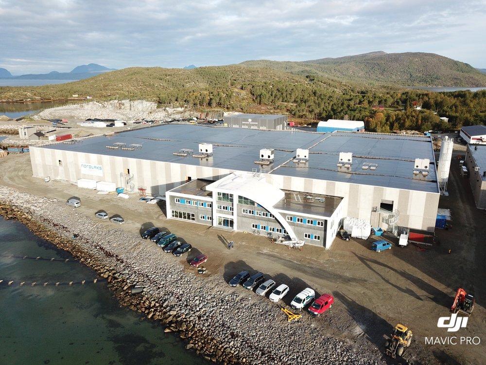 Norges største settefiskanlegg står klart på Innahvet i Hamarøy i løpet av 2019.